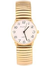 Philip Mercier MC46/A - Reloj analógico para mujer, correa de otros materiales color dorado