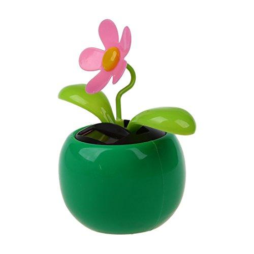 TOOGOO(R) flip flap solarbetriebene Blume Blumentopf Swing Dancing Zeugneuheit Hause Ornament - Gruen