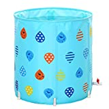 Eeayyygch Pools, Badewannen, faltbar, aufblasbar, für Erwachsene, integriertes Kissen, Eimer für Kinderbecken, Zuhause, aufblasbar, verdickt, zusammenklappbar, einfach zu verstauen, blau,