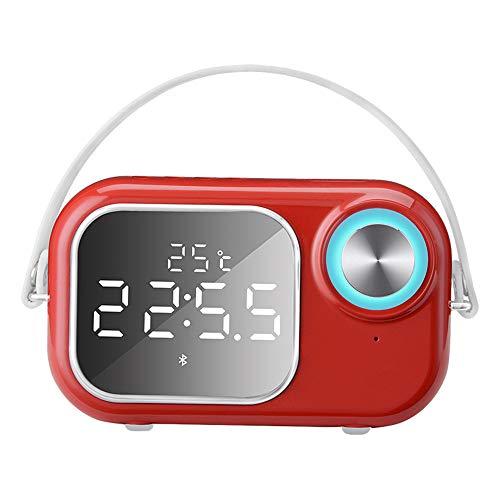 Bluetooth Lautsprecher Home Wecker Spiegel Mobile Computer Tragbare Übergewicht Subwoofer Outdoor Radio Auto Neue Stahl Cannon Wireless Retro Kreative Mini Akustische Spiegel Wecker (Akustische Auto-lautsprecher)