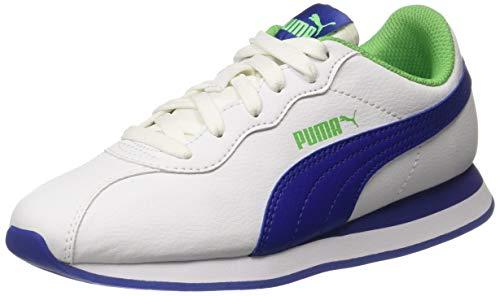 Puma Unisex-Kinder Turin Ii Jr Sneaker, Weiß White-Surf The Web-Irish Green, 37 EU (Surf Ii)