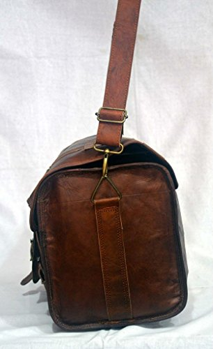 "Messenger of Leather , Borsa Messenger  marrone Brown 20"" x 10"" x 9"" Brown"