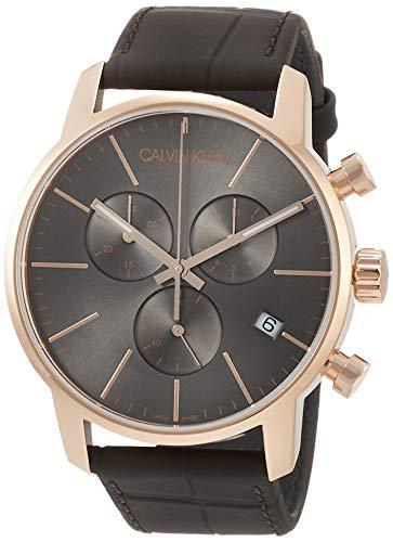 Calvin Klein Montre Homme Chronographe Quartz avec Bracelet en Cuir - K2G276G3