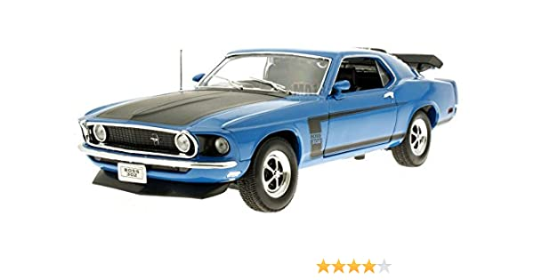 1:18 Die Cast 1970 Ford Mustang Boss 302 Blau Welly 18002