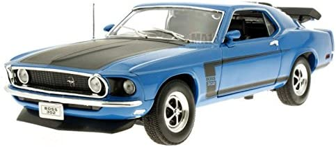 1970 Ford Ford Ford Mustang Boss 302 [Welly 18002], Bleu, 1:18 Die Cast | Livraison Immédiate  83d1b8
