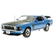 1970 Ford Mustang Boss 302 [Welly 18002], Azul, 1:18 Die Cast