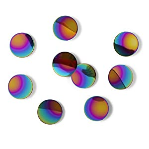 Umbra Confetti Dots, Metal Rainbow-Colored, 10.9 x 10.9 x 3.5 cm