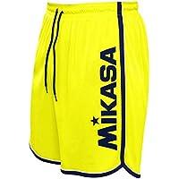Mikasa Pantaloncino Beach Volley Crystal, Amarillo Fluo, XX-Large