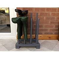 boot rack for 4 pairs, dark grey, weatherproof, arrives fully assembled
