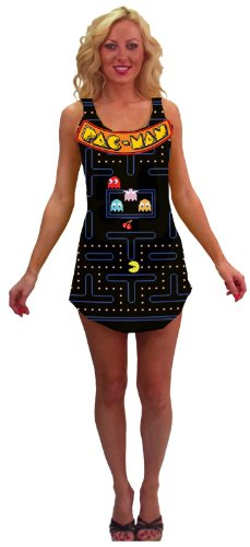 Tank Dress Adult Costume Halloween size of the game screen of Pac-Man Video Game Screen Tank Dress Adult Costume Pac-Man: One-Size (Standard) (japan import)