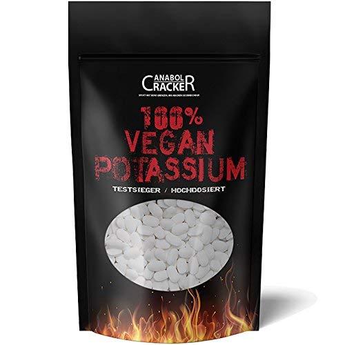 500 TABLETTEN - KALIUM/100% Vegan Potassium Gluconat, Hochdosiert 643mg/Tablette, Diät, Entschlackung, Entgiftung, Entwässerung