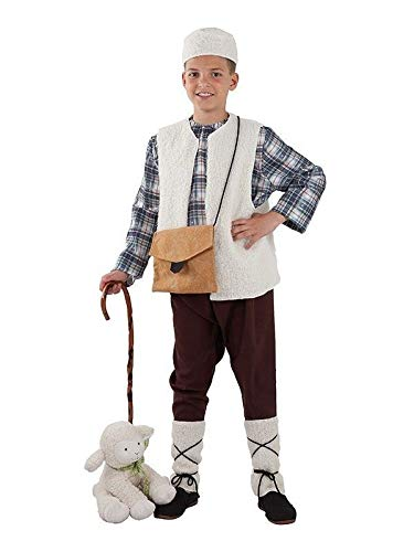 DISBACANAL Disfraz Pastor niño - Sin bastón, 8 años