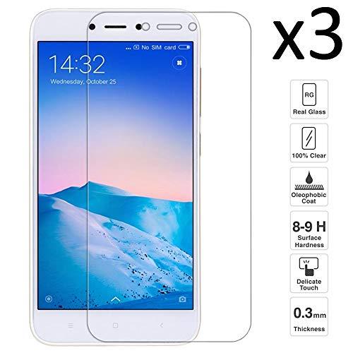 iGlobalmarket [3 Unidades Protector de Pantalla Xiaomi Redmi 5A, Cristal Templado Xiaomi Redmi 5A, Alta Definicion, 9H Dureza, Resistente a Arañazos