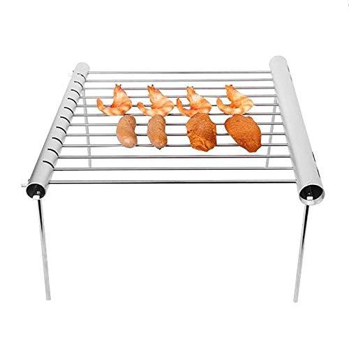 Meeresfrüchte-rack (1 stücke Klappgrill Net Tragbare Edelstahl Grill Rack Licht Und Bequeme Hohe Qualität Und Langlebig Grillwerkzeug)