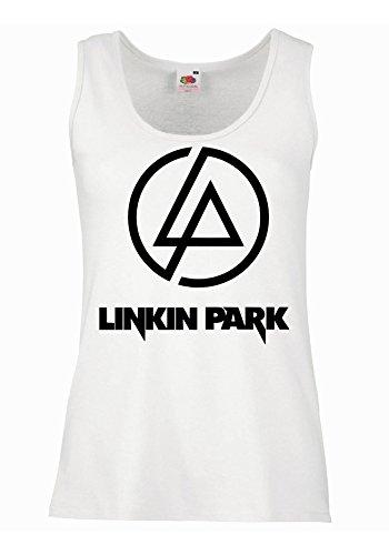 "Canotta Donna ""Linkin Park - Logo"" - 100% cotone LaMAGLIERIA, S, Bianco"