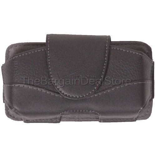 Verizon Motorola Droid Pro XT610Leder Tasche Gürtelclip Holster Seite Schutzhülle OEM Schwarz [Retail Verpackung]