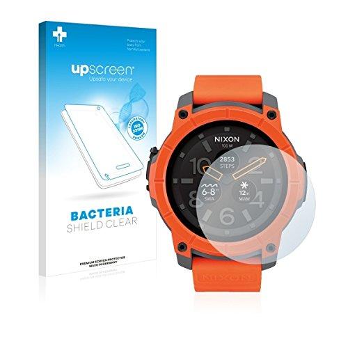 upscreen Bacteria Shield Clear Bildschirmschutz Schutzfolie für Nixon The Mission (antibakterieller Schutz, hochtransparent)