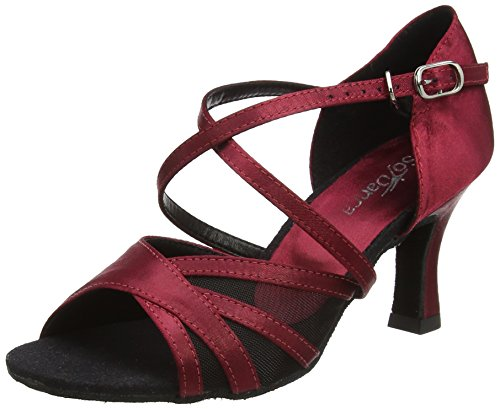 So Danca Damen Bl162 Tanzschuhe-Standard & Latein, Rot (Burgundy), 38.5 EU