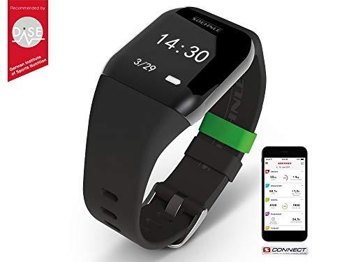 Soehnle Fit Connect 300 HR mit Bluetooth Fitnesstracker mit App-Anbindung, Fitness Armband mit Datenspeicher, Fitness Tracker mit Datum- & Uhranzeige Touch 300 Electronic