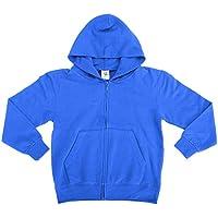 SG - Sudadera básica con capucha y cremallera completa Modelo Full Zip unisex niños niñas