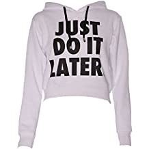 Sudaderas con Capucha Casual Deportiva Tops Just Do It Later Deporte para Mujer