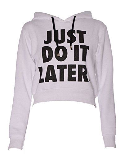 Sudaderas con Capucha Casual Deportiva Tops Just Do It Later Deporte p