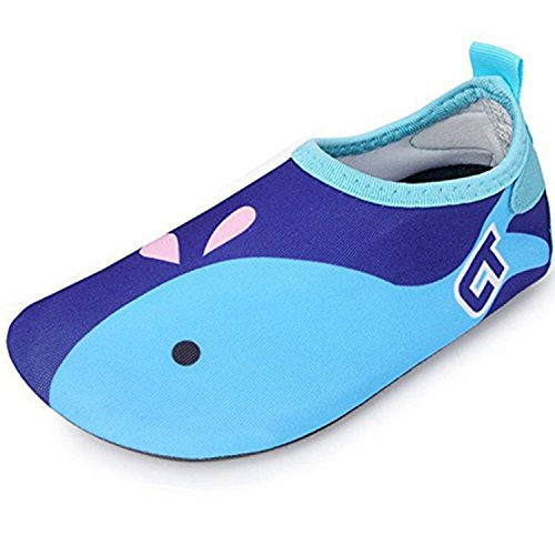 SITAILE Aquaschuhe Barfuß Schuhe Schwimmschuhe Badeschuhe Wasserschuhe Surfschuhe Sportschuhe für Kinder Blau EU 24-25