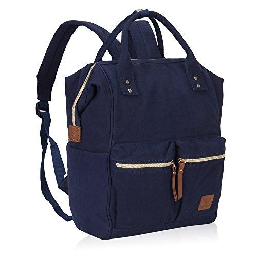 Imagen de veevan bolso  casual de lona para ordenador portátil de 15,6 pulgadas unisex azul marino 01  alternativa