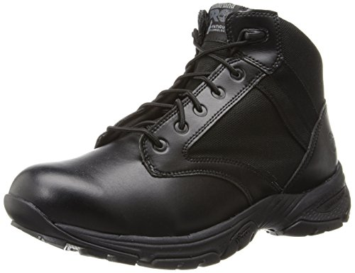 Timberland PRO Men's 5 inch Valor Soft Toe Duty Boot,Black Smooth with Textile,9 M US