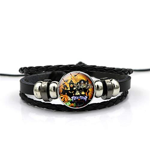 Blisfille Halloween Schloss Zeit Edelstein Armband Mode Armband Hand Link Day Herren Damen Schmuck