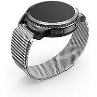Watches Band Ancool milanese Loop Magnet Malla de Acero Inoxidable Hebilla de Repuesto Banda de Metal