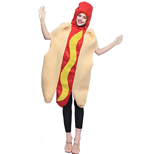 ostuem Fast Food Verkleidung Deluxe Food Overall Fancy Dress Bodysuit Jumpsuit Karneval Kostuem (Dog Fancy Dress Kostüme)