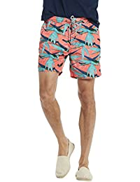 Scotch & Soda Herren Swim Short in Polyester Quality with All-Over Print and Cont