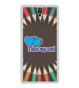 Fiobs Designer Back Case Cover for Sony Xperia C5 Ultra Dual :: Sony Xperia C5 E5533 E5563 (Love Dad Son Daughter Relation)