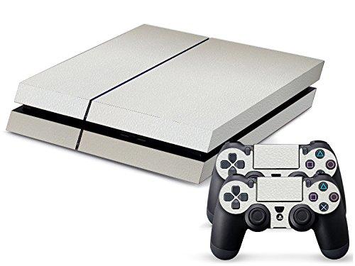 playstation-4-kit-de-skins-fundas-adhesivas-para-consola-2-mandos-de-control-textura-blanco