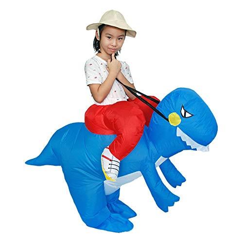 Colorful Aufblasbarer Dinosaurier T-Rex für Kinder, Kinder T-Rex Inflatable Dinosaur Costume aufblasbare Dinosaurier Anzüge und Kostüme Festival Party Park Halloween Weihnachten Karneval (Blau)