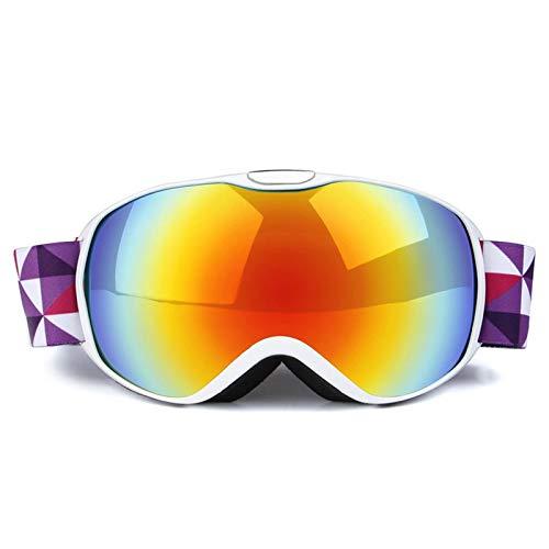 MaxAst Schutzbrille zum Schießen Brille Motorrad Winddicht Sicherheitsbrille Damen Weiß Rot