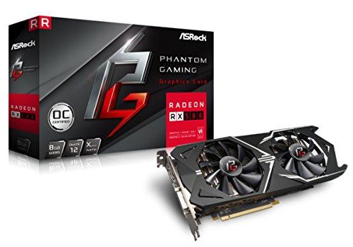 ASRock Phantom Gaming X Radeon RX580 8GB OC Grafikkarte, VR-Ready, schwarz