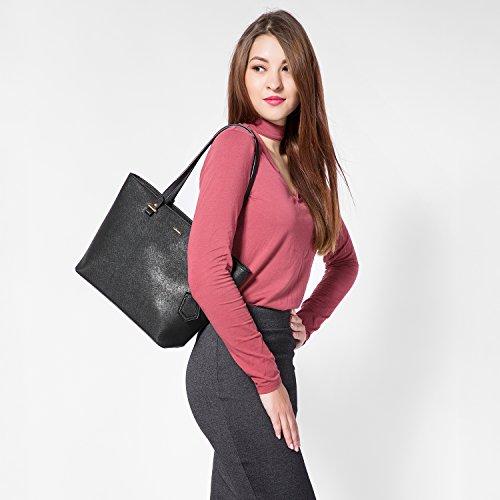 Bag Tracolla Borsa Elegante Borsa Borsa Nero Spalla Mano a Shopping Nero Moda Donna Borse PxAxzq5w