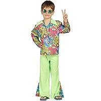 Guirca Buntes Hippie Kostüm mit Schlaghose für Jungen Gr. 98-146