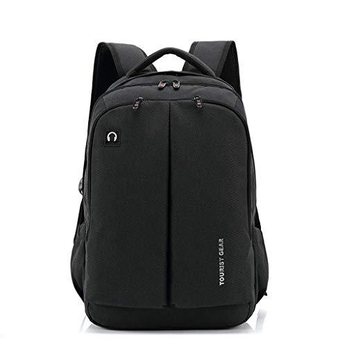 Package Erwachsene Business-Rucksack, wiederaufladbare USB-Laptop-Tasche mit großer Kapazität, Aufbewahrungstasche for das Reiten im Freien Unisex (Color : Schwarz, Size : 32 * 22 * 48cm) -