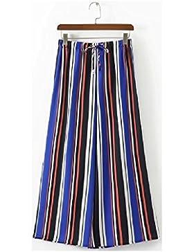 SYGoodBUY Pantalones Sueltos de la Caída de la Primavera del Verano de Las Mujeres Pantalones Sueltos de la Pierna...