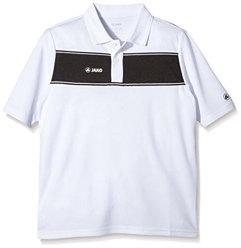 Jako Kinder Polo Shirt Player weiß/schwarz