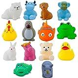 Kids Choice Chu Chu Bath Toys for Baby Non-Toxic Toddler Set Multi Color (1 Set - 15 Pcs)