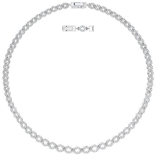 Swarovski 5382353 Kette Lace All-Around Weiss Rhodiniert