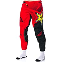 Pantaloni Motocross Fly Racing Rockstar 2017 Kinetic Rosso-Nero (34 Vita = Eu 48 , Rosso)