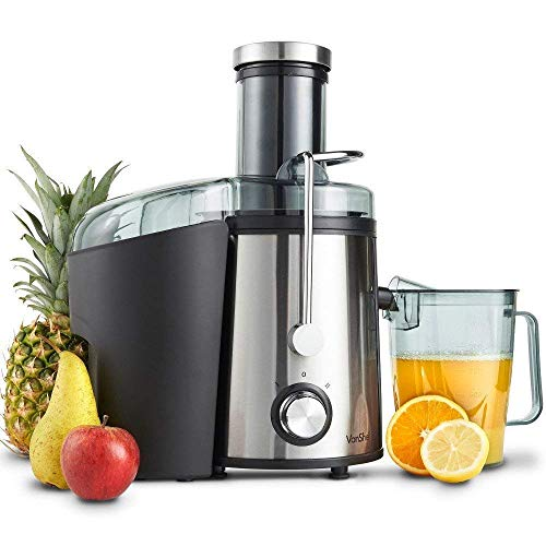 Chhel Wide Mouth Fruit Centrifugal Juicer 600 Watts Juice Extractor with Multiple Settings, Stainless Steel