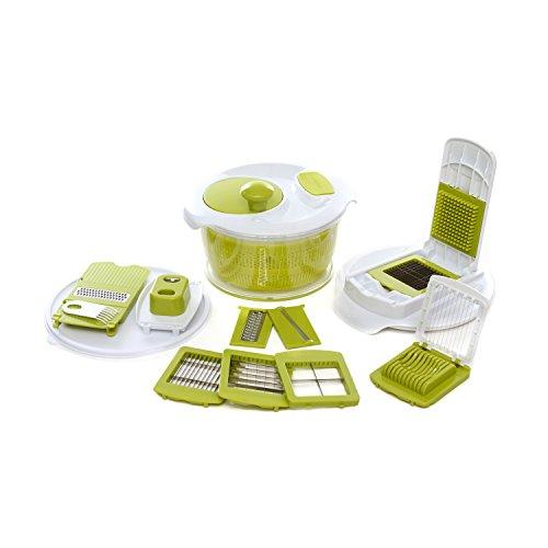 Set taglio con centrifuga per insalata
