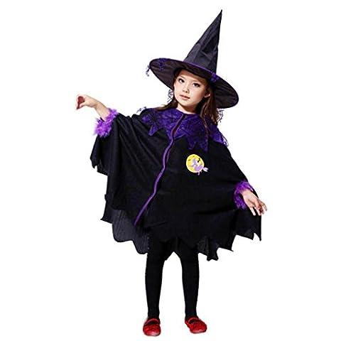 Zombie Halloween Costumes Filles - Déguisement Sorcière, Oyedens Costume Halloween Déguisement Enfant