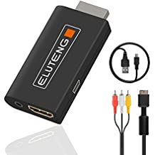 ELUTENG PS2 to HDMI Video Adaptor with PS2 to CVBS Cable PS2 HDMI Converter Set Support All PS2 Display Modes PS2 HDMI
